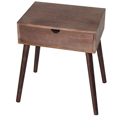 KMH, Beistelltisch/Nachttisch Thomas braun mit Schublade in modernem Design (#800075)