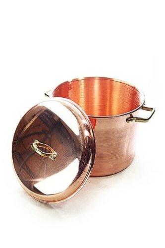 'CopperGarden®' Kupfertopf 8L, glatt mit Griffen & Deckel