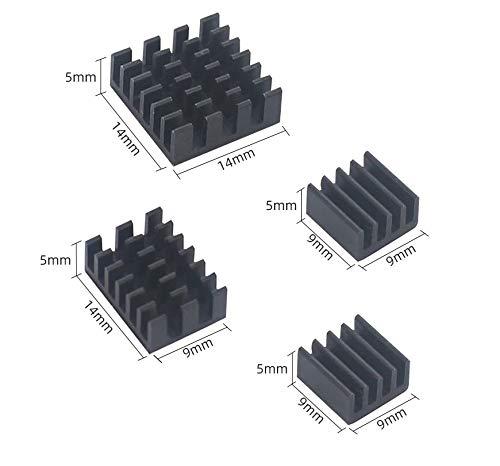 ITSTUFF Aluminium Kühlkörper Set schwarz für Raspberry Pi 4