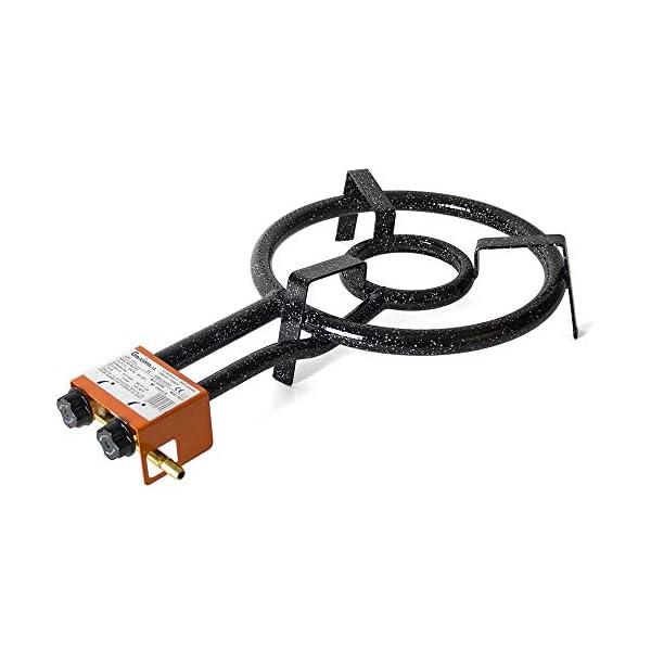Bricolemar Paellero 35cm a Gas Garcima + Kit (Juego de Patas para paellero + Paellera 40 cm + regulador de butano…