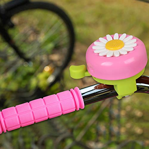 BAPHILE Bike Accessories for Kids Girls Bike Bicycle Decorations Inclu   ding Pink Bike Handlebar Grips, Bike Streamers, Butterfly Bike Wheel Spokes, Flower Bell and Stickers,Rabbit Balloon