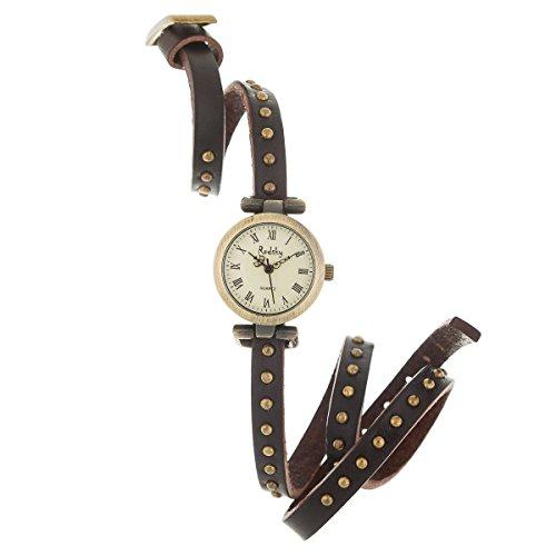 New Reloj de Mujer de Moda G-Style Correa de Cuero Relojes Pulsera (RXL01)