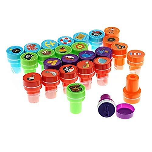 Toyvian - Juego de sellos de patrón pirata para manualidades infantiles (26...