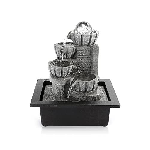 Dyna-Living Water Fountains Indoor Tabletop Water...