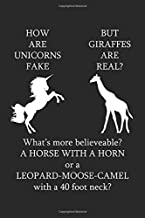 How Are Unicorns Fake But Giraffes Are Real?: Graph Paper Composition Notebook to Take Notes at Work. Grid, Squared, Quad Ruled. Bullet Point Diary, To-Do-List or Journal For Men and Women.