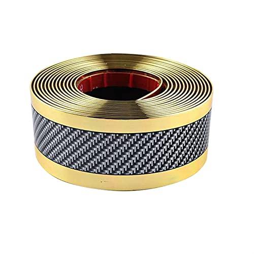 TYUTYU Portada de Parachoques de Goma Pegatina Molduras Strip Decorativa Puerta de Coche Sill Sirva Suave (Color Name : Gold, Size : 1m)