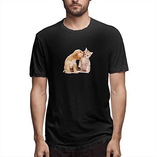 Hemd Husky Maine Coon Welpe Kätzchen Katzenfutter Katzen und Hunde lieben jedes Herren Baumwolle lässig T-Shirt