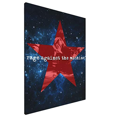 MKIHLEODF Rage Against The Machine Framed to Hang Home Kitchen Bedroom Living Room Decoration Canvas Painting Wall Art Contemporary Decoration Prints Art, 16x12inch