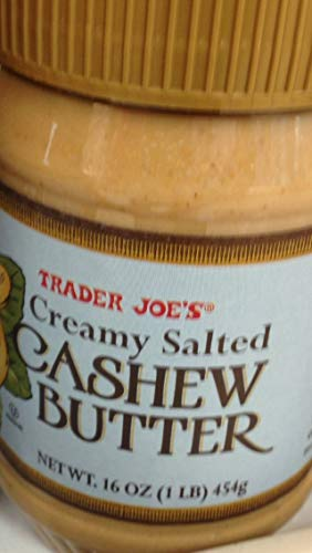 Trader Joe's Creamy Salted Cashew Butter (3 Jars)