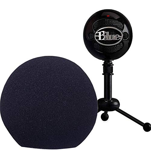 Professional Microphone Cover Foam Microphone Windscreen Wind Cover for Blue Snowball,Black…