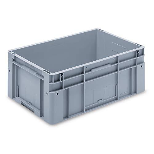 utz Euronorm-Stapelbehälter - Außen-LxBxH 600 x 400 x 270 mm - grau, VE 1 Stk - Behälter Behälter aus Kunststoff Box Boxen EUR-Stapelbehälter Euronorm Stapelkasten Euronorm Stapelkästen Euronorm-Stapelbehälter Euronorm-Stapelkasten Euronorm-Stapelkästen