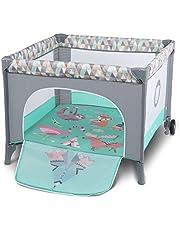 Lionelo Sofie - Parque para bebé o bebé (15 kg, con bolsa de transporte), color turquesa