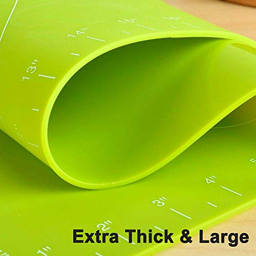 Super-thick Silicone Baking Mat, Non-Stick Large Pastry Rolling Mat,...