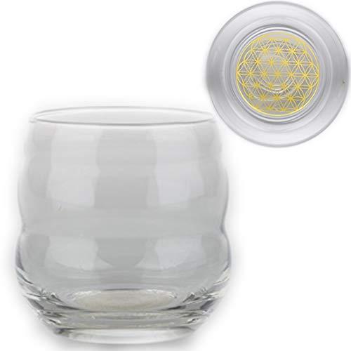Set DI 6 TC Energy Design bicchieri - Mito con fiore della Vita in oro