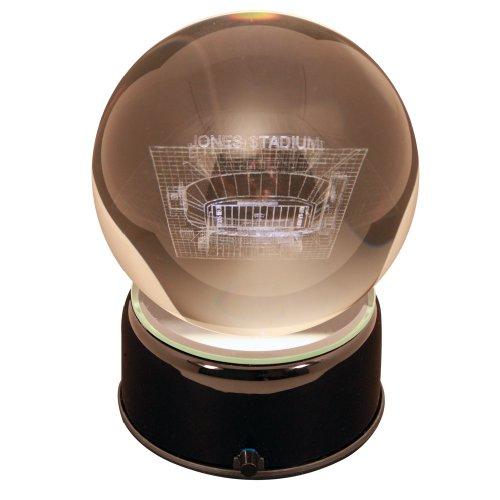 NCAA Texas Tech Red Raiders Jones Stadium Etched Lit Musical Turning Crystal Ball