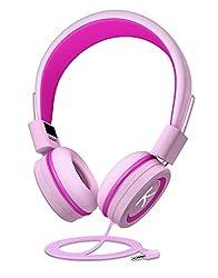 Kinderkopfhörer mit Gehörschutz für begrenztes 85dB Volumen,aus Material in Lebensmittelqualität,BPA-frei,verkabelter On-Ear-Kopfhörer für Kinder,Kleinkind sowie Baby