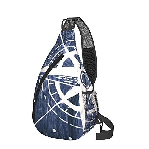 Mochila de viaje senderismo Daypack 3D gráfico impreso Crossbody bolso de hombro, color Negro, talla Talla única