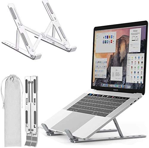 """Hongyans Laptop Stand, Adjustable Portable Riser Laptop Holder for Desk Foldable Design Non-slip for MacBook, Lenovo, Sony, Dell, 10-15.6"""" Laptops (White)"""