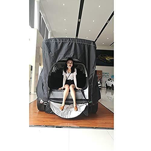 2 Persona Carpa, Vehículo/tienda, Tienda de campaña individual del coche de caja, transpirable tres, dimensional, resistente al agua y resistente a la humedad, fácil de aplicar,Black