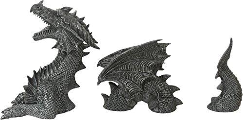 Große 3-teilige Drachenfigur