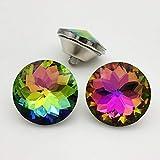 Let's Decorate 25 botones de cristal de 25 mm para sofá, botones de costura, decoración de cabecero, botones de cristal, para tapicería, botón de colores (ZJ))