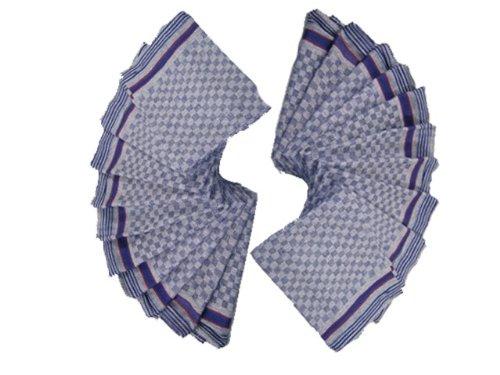 Grubentücher lot de 3 torchons coton violet/bleu