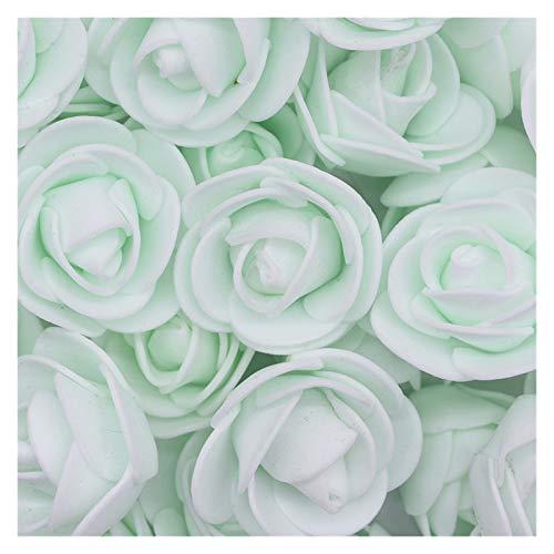 JSJJQAZ Flor Artificial Espuma Rosa Flores Artificiales Bricolaje Guirnalda Guirnalda Rosas Falsas Flor para decoración de Boda Suministros de día de San Valentín (Color : F08 Mint Green)