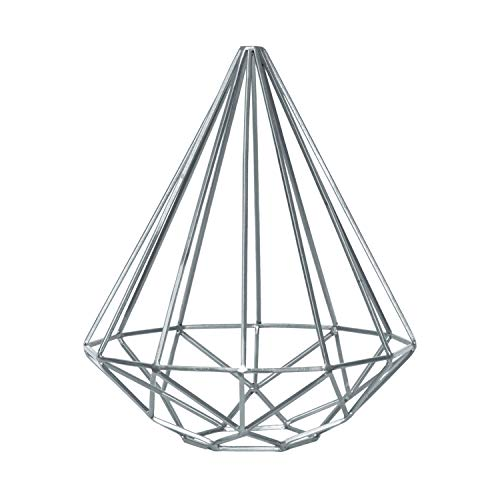 Benjara - Escultura piramidal con Marco de Metal con Fondo cónico, Color Plateado