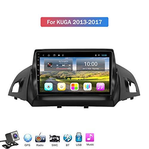Gokiu Android 8.1 Quad core Car Radio Player GPS Navigation für Ford Kuga Escape 2013-2017 mit 9 Zoll Touchscreen Unterstützung Auto Media Player/Freisprechfunktion etc,4g+WiFi: 1+16gb