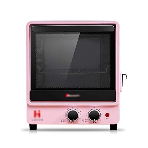 Z-Color Horno Mini Mini Eléctrico - Pink 12L Hogar Steam Multifunción Mini Aluminizado Torta de Horno Pizza Pizza Pollo Asado