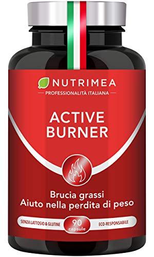 ACTIVE BURNER | Complesso Vegetale Dimagrante | Con Zenzero Guaranà Fucus Caffé Verde Cola | Metabolismo Veloce | Contro L'Affaticamento | 90 capsule vegane