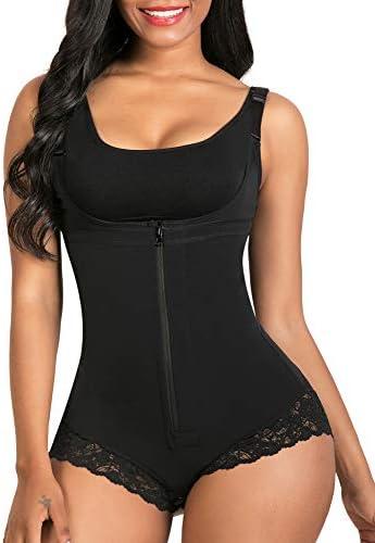 SHAPERX Women Shapewear tummy control Fajas Colombianas Body Shaper Zipper Open Bust Bodysuit product image