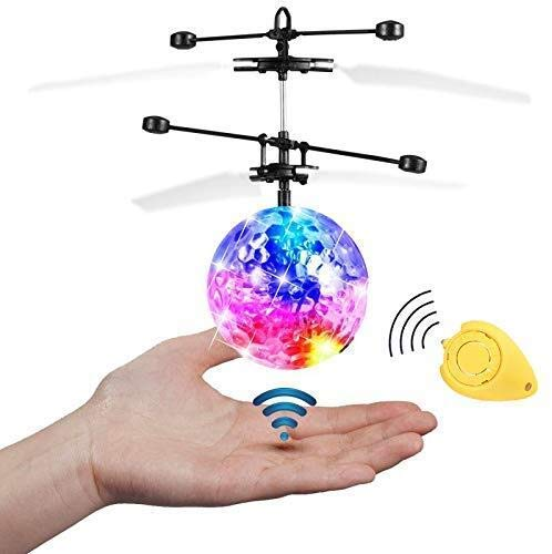 Bola voladora RC, JAMSWALL RC Flying Juguetes Bola RC con Led Llamativo Juguete RC Juguete RC Flying Ball para nios Adolescentes