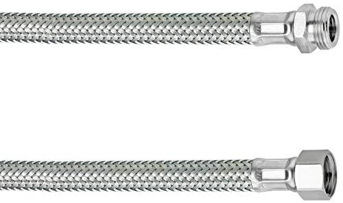 Cornat Flexibler Verbindungsschlauch - 300 mm Länge - 3/8 Zoll IG, 3/8 Zoll AG - Hochwertige Edelstahl-Umflechtung / Anschlussschlauch für Wasserhahn / Armaturenschlauch / Flexschlauch / T317310270