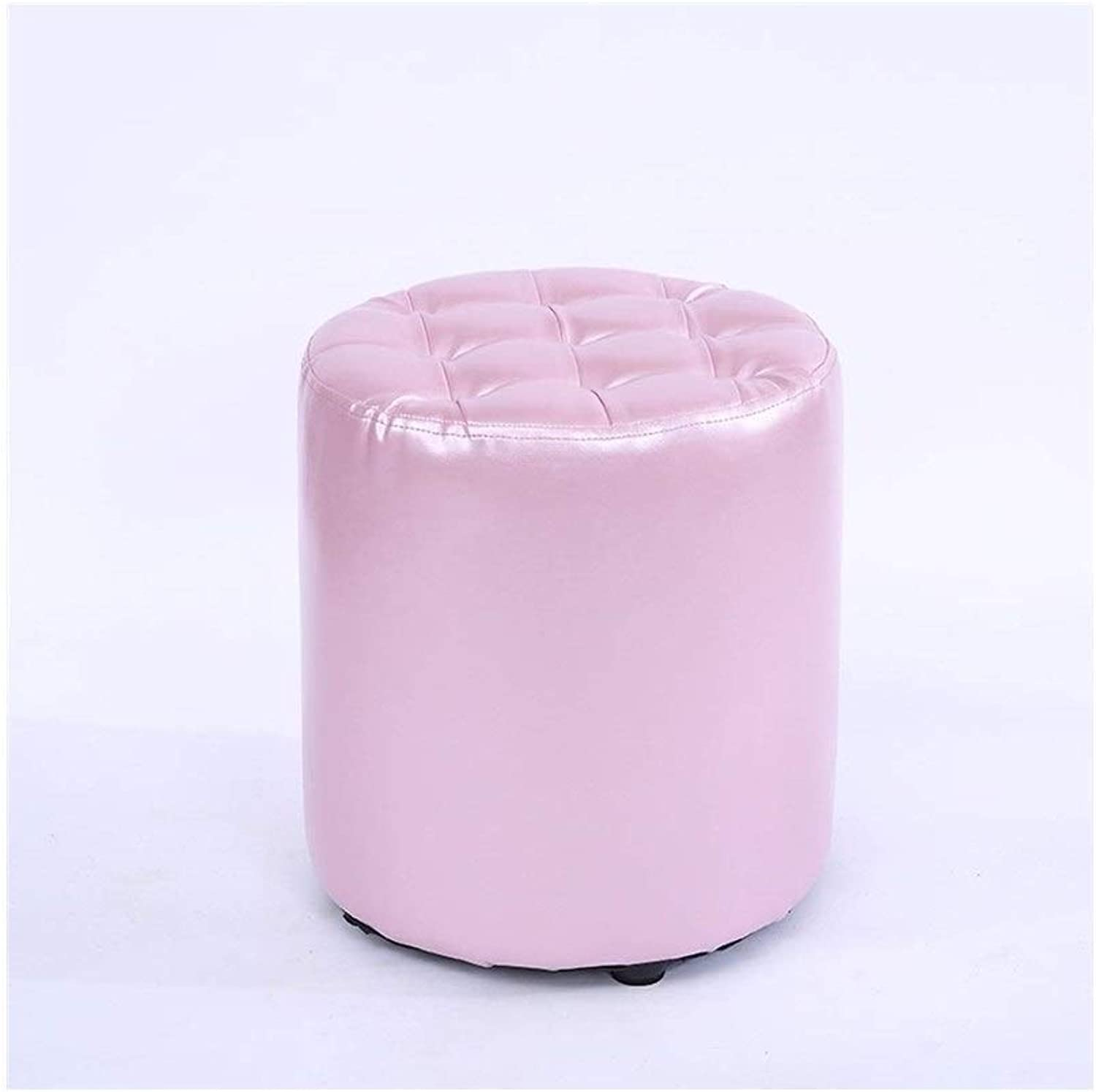 Footstool Home Sofa Stool Multi Function Stool Makeup Stool shoes Bench LEBAO (color   Pink)
