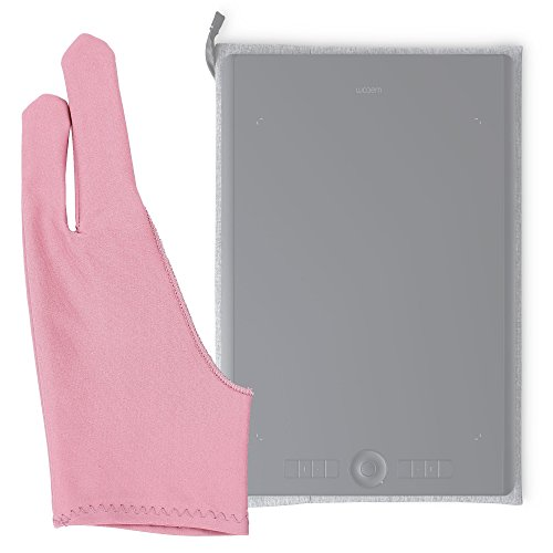DURAGADGET Guanto da Disegno a 2 Dita – per Tablet UGEE M708 | M1000L 10x6 | CV720 | EX05 | EX07 | G3 | G5 | M540 | M6370 | R3C | HK1060 | HK1560 – Anti-incrostazioni – Colore Rosa