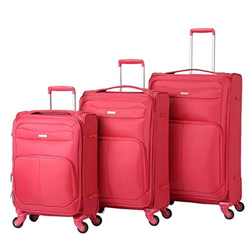Check Out This Luggage Sets 360° Silent Spinner Multidirectional Wheels 3 Piece 20in 24in 28in Lugg...