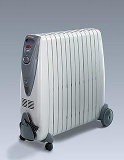 De'Longhi G011225R Radiador de aceite, 2500 W, Acero Inoxidable, plástico, Gris