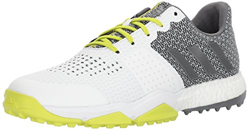 adidas Men's Adipower S Boost 3 Golf Shoe, White/Silver/Semi Solar Yellow, 7...