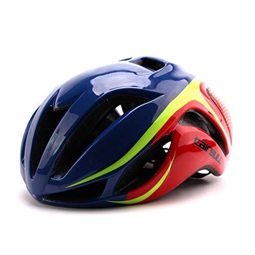Cairbull Aerodynamik Größe Specialized Fahrradhelm MTB Helm 56-62 cm Mountainbike Helm Herren & Damen Schwarz Mit Rucksack Fahrrad Helm Integral 19 Belüftungskanäle (Blau, Erwachsene(56-62cm))