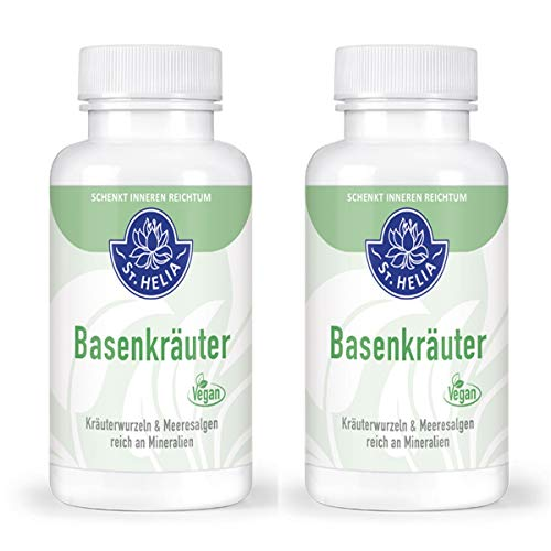 Basenkräuter Kräuterwurzeln & Meeresalgen, reich an Mineralien, Doppelpack 2 x 90 Kapseln