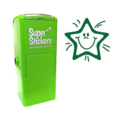 Stamper Solutions smiley Star pre Inked Stamper–verde