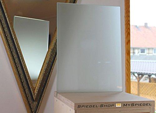 MySpiegel.de Glasplatte Glas 6mm 90x55 cm Polierte Kante Satiniert Milchglas Glasscheiben Glasboden Glaswand Glastisch