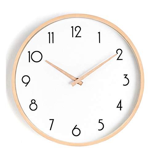 Small and Beauty Reloj de Pared Reloj de Pared silencioso sin tictac para el hogar Sala de Estar Dormitorio Reloj Escolar con Madera Maciza de 10 Pulgadas