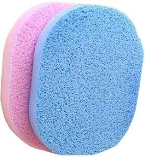 BeautyQua Set Of 2 Pcs Face Cleansing Sponge Puff Makeup Washing Pad Deep Cleansing & Facial Sponge (Pack of 1)