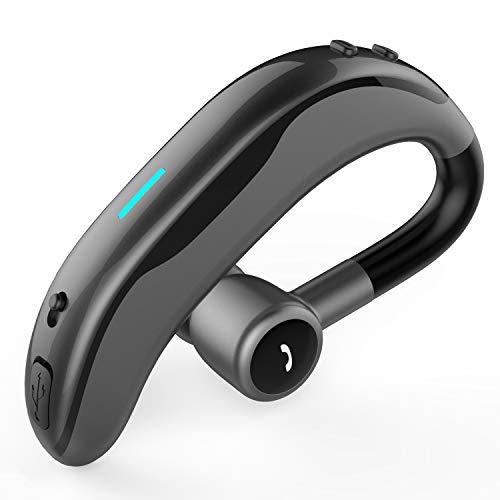 Vida IT Auricular Bluetooth Compatible para iPhone 8 11 12 X Samsung Galaxy S21 S20 A51 A71 Huawei Google Pixel LG Motorola Móvil Inalámbrico Manos Libres Coche Moto Una Oreja Llamadas con Micrófono