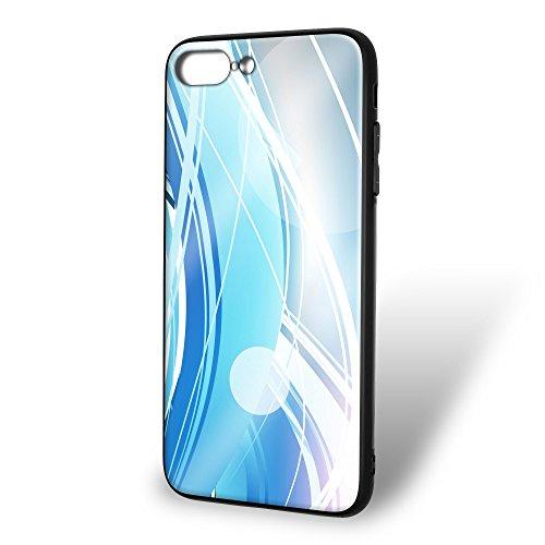 ホワイトナッツ iPhone8 Plus ケース ガラス プリント TPU パターンE (wn-131) スマホケース カバー ラインエフェクト WN-PR396703