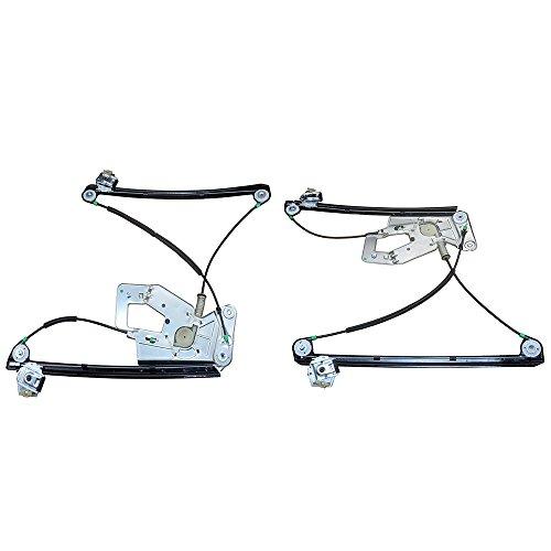 A-Premium Power Window Regulator without Motor for BMW E39 525i 528i 530i 540i M5 1997-2003 Front Left and Right 2-PC Set