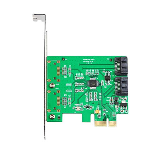 SATA III Bewinner Expansion Card // Serial ATA Specification 3.0 6Gbps 4-Port PCI-Express Controller Card Compliant with PCI-Experss Specification v2.0 // PCI-Express 1.x RAID Controllers