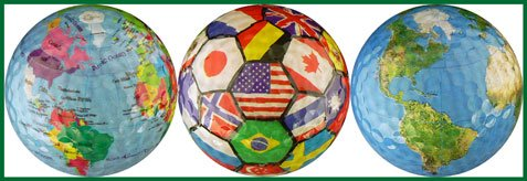 EnjoyLife Inc World Collection Globe/International Flags/Earth Golf Ball Gift Set